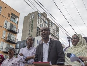 City Council member Abdi Warsame speaks