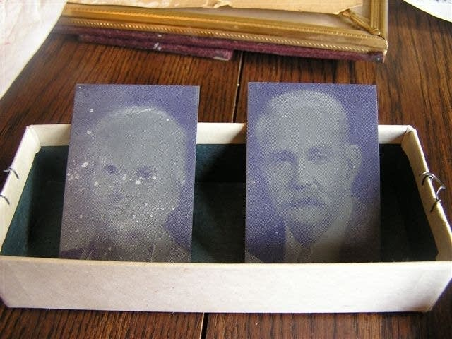 Slate negatives of Ole M. and Martha Olson