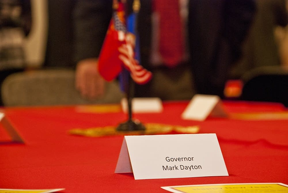 Gov. Dayton's place at the delegation lunch