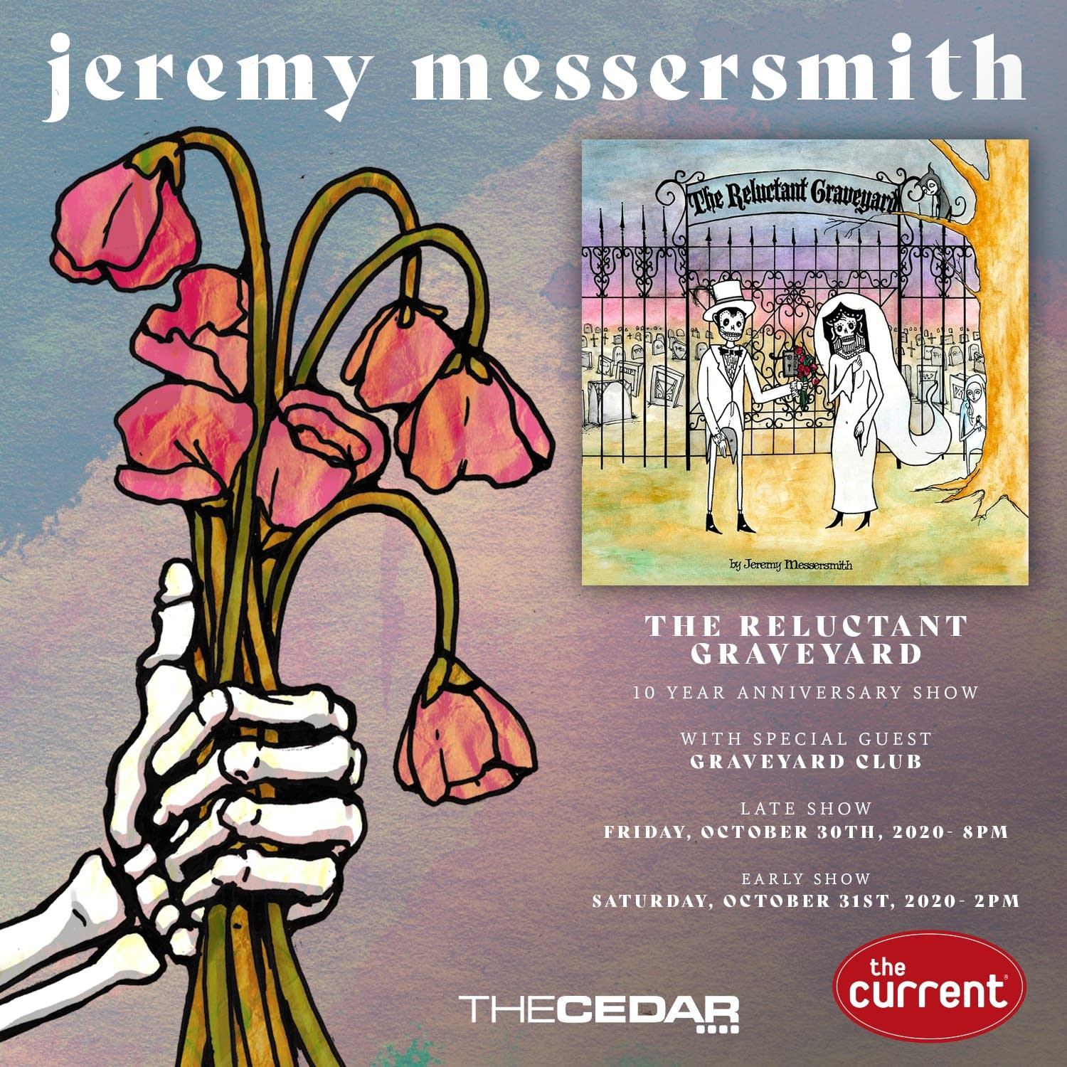 Jeremy Messersmith The Reluctant Graveyard 10 Year Anniversary Shows