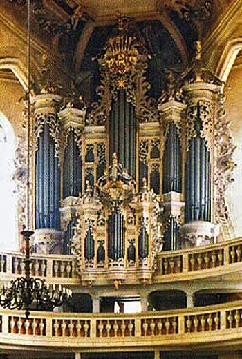 1746 Hildebrandt organ at Wenzelskirche, Naumburg, Germany