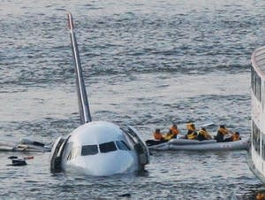 US Airways flight in the Hudson River