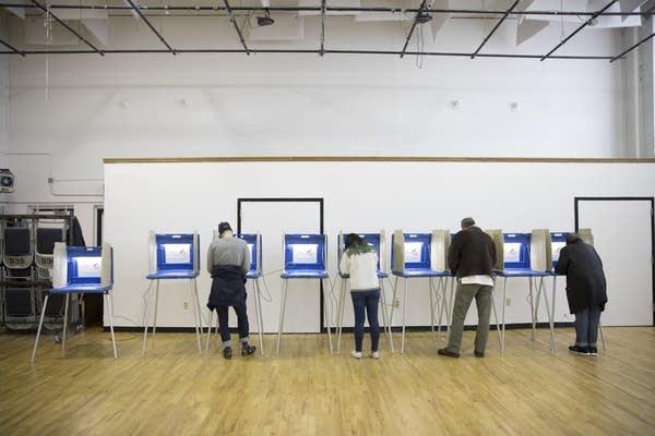 Voters cast votes at Sabathani Community Center.