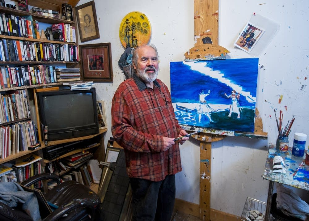 Carl Gawboy at his studio
