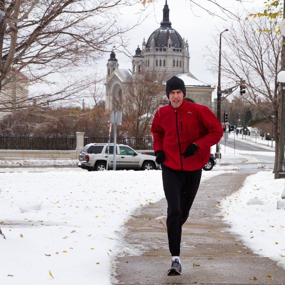 Runner on John Ireland Blvd.