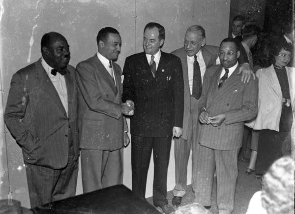 Then Minneapolis mayor Hubert H. Humphrey