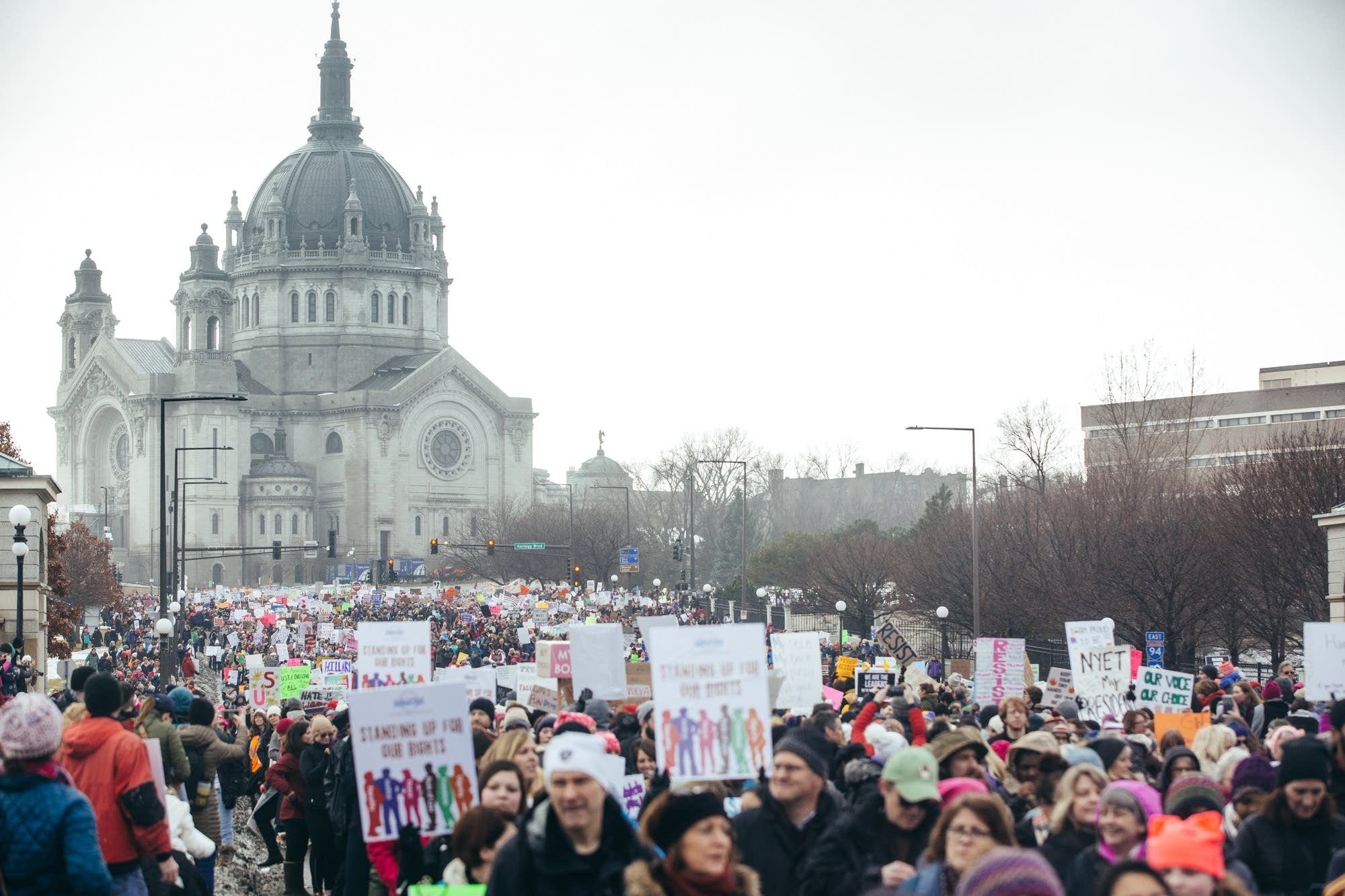 Photos: Around Minnesota, women -- and men -- march for women's rights ...