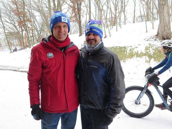 The Loppet Foundation's John Munger (left) and Ray Aponte