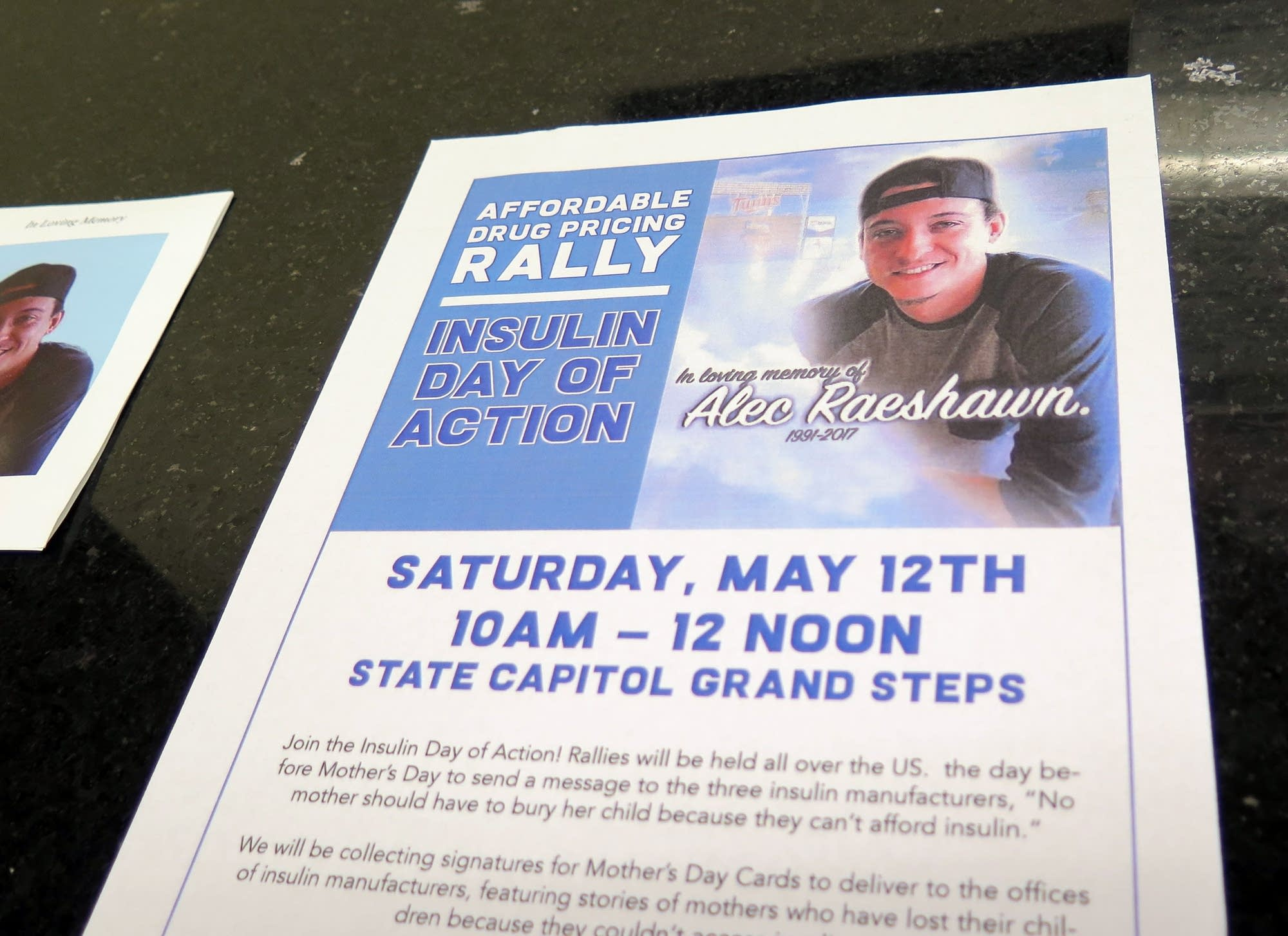 There will be a rally Saturday at the State Capitol for affordable drugs.