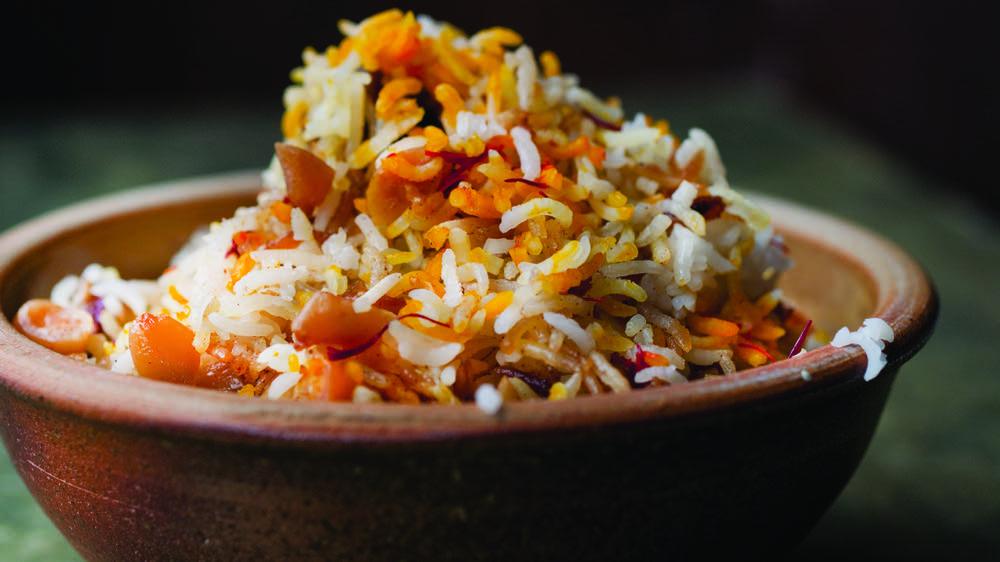 Saffron, Date, and Almond Rice