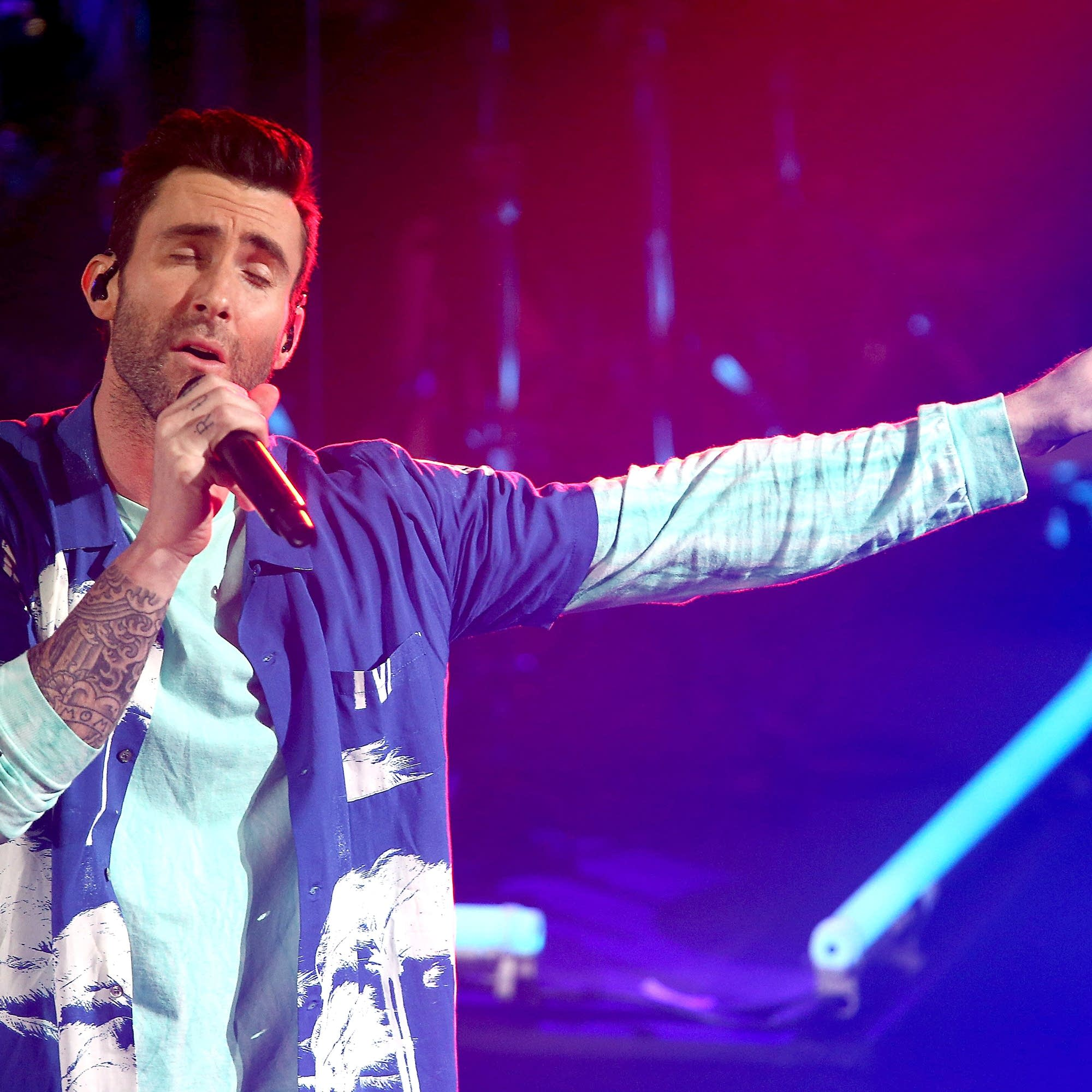 Adam Levine performs with Maroon 5 in 2017.