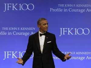 Former President Barack Obama awarded Profile in Courage award