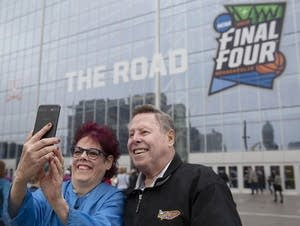 Dawn Plank takes a selfie with her dad, Bill Dubisar.