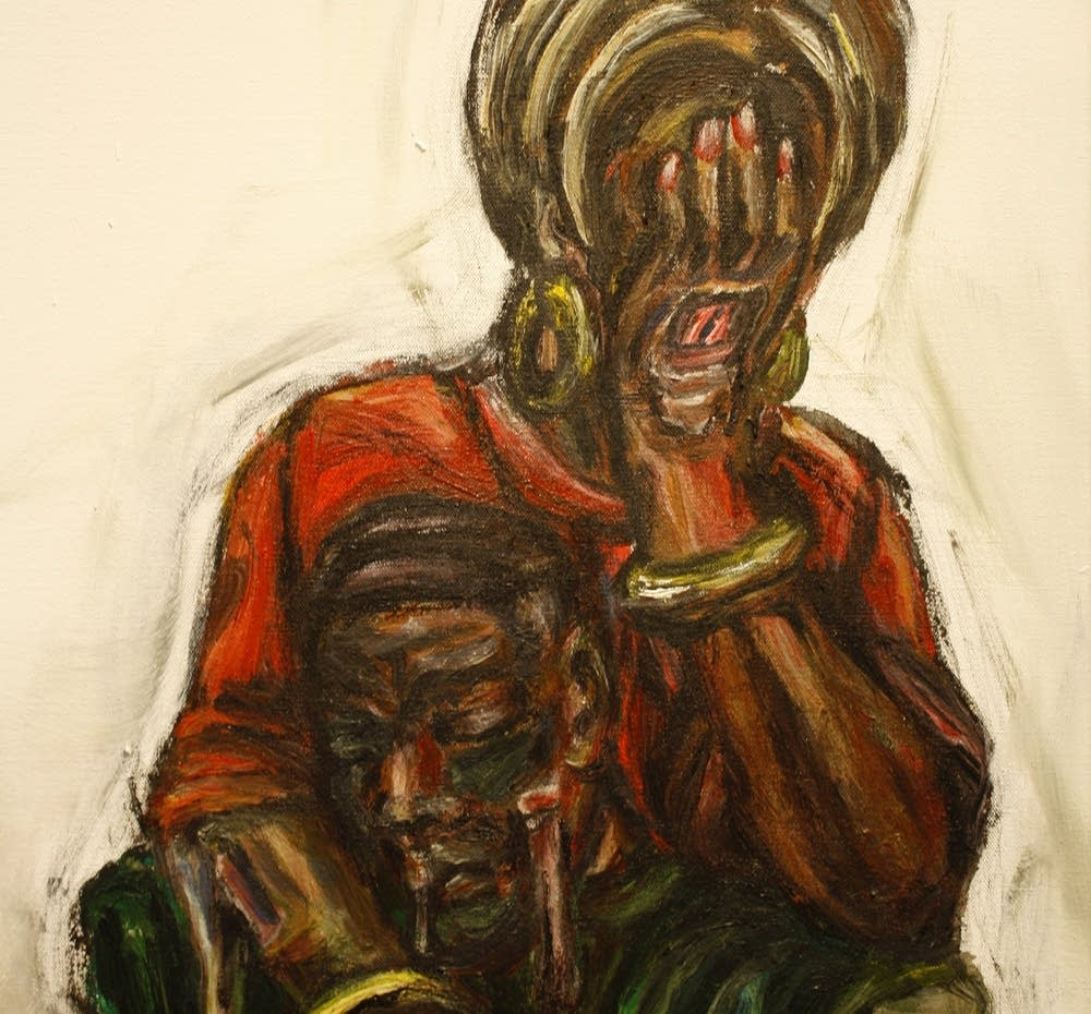 Detail of ''Momma'' by Christopher Harrison