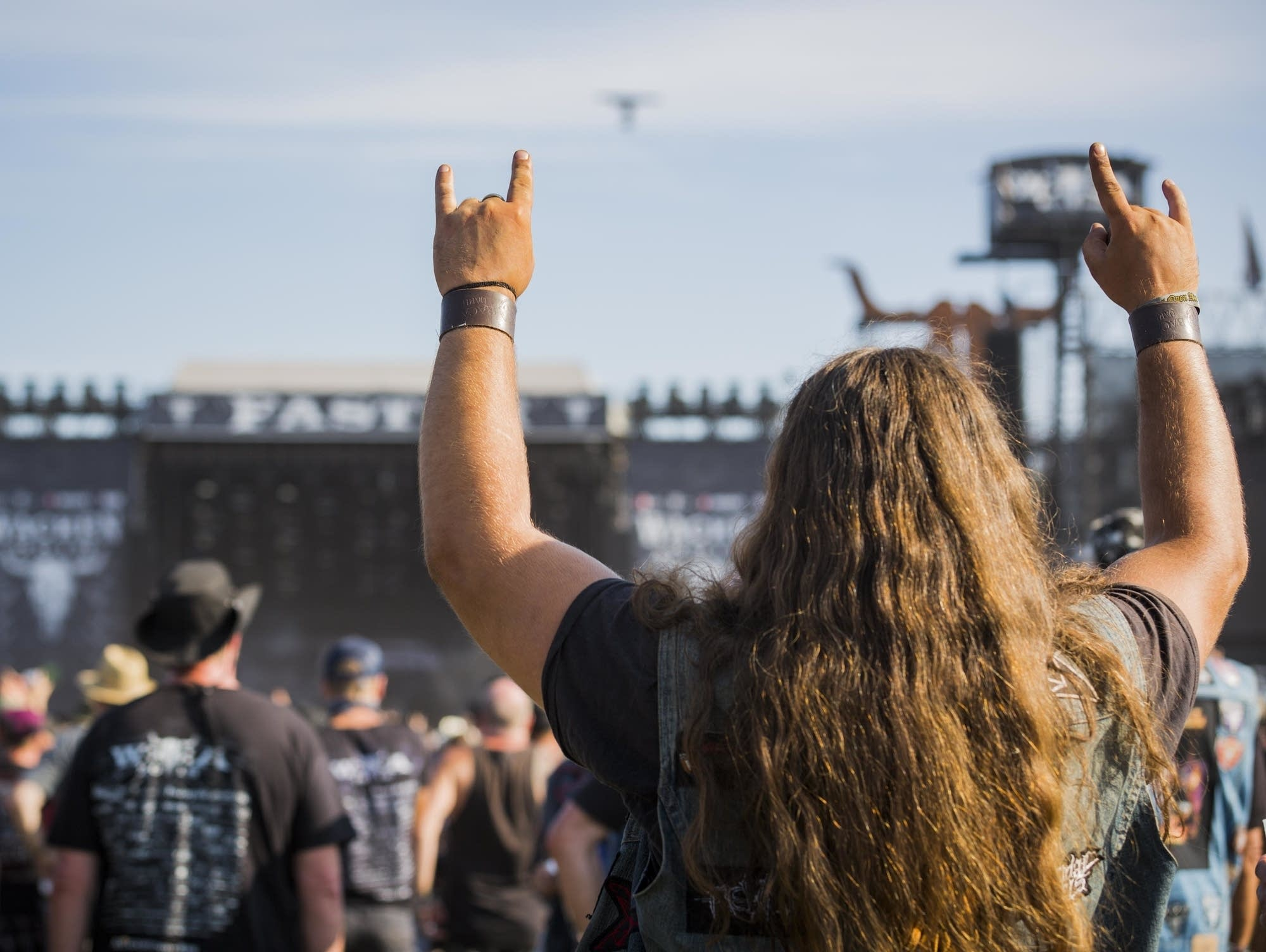 A fan at the Wacken Open Air festival, 2018.
