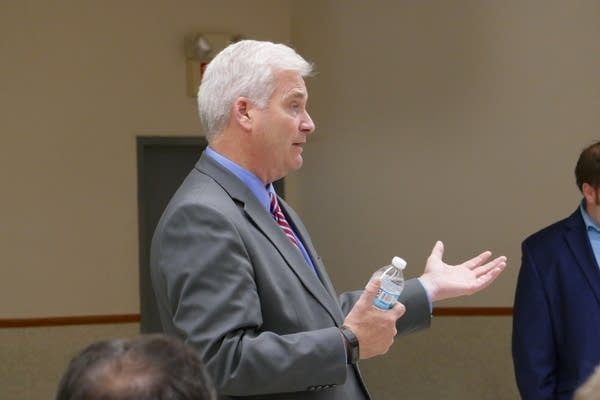 Rep. Tom Emmer holds a town hall at Scandia City Hall.