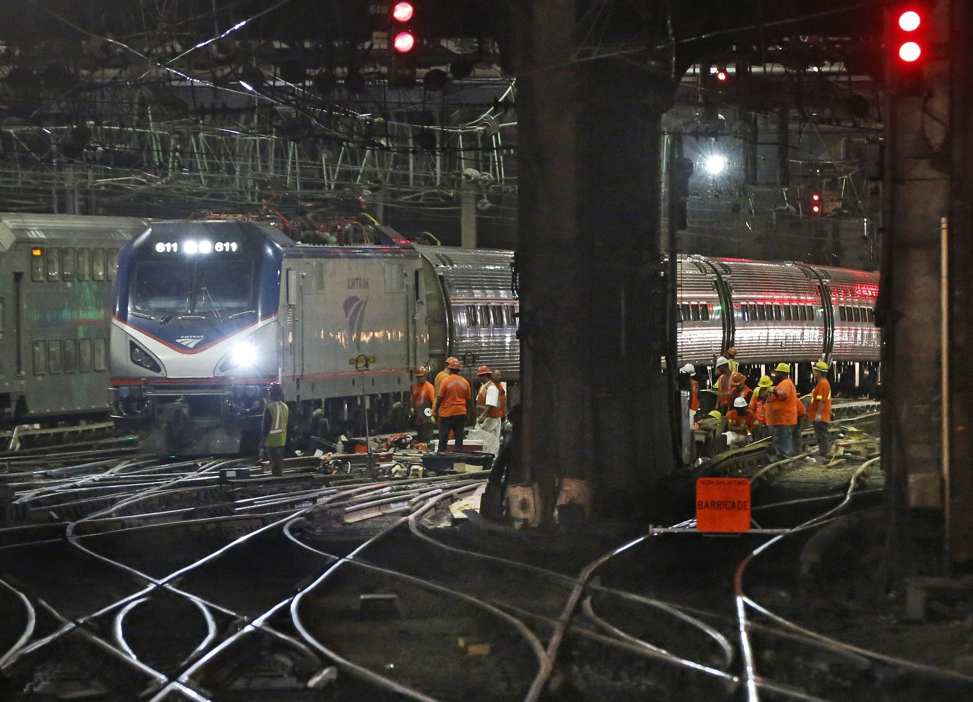 Infrastructure renewal work beneath Penn Station