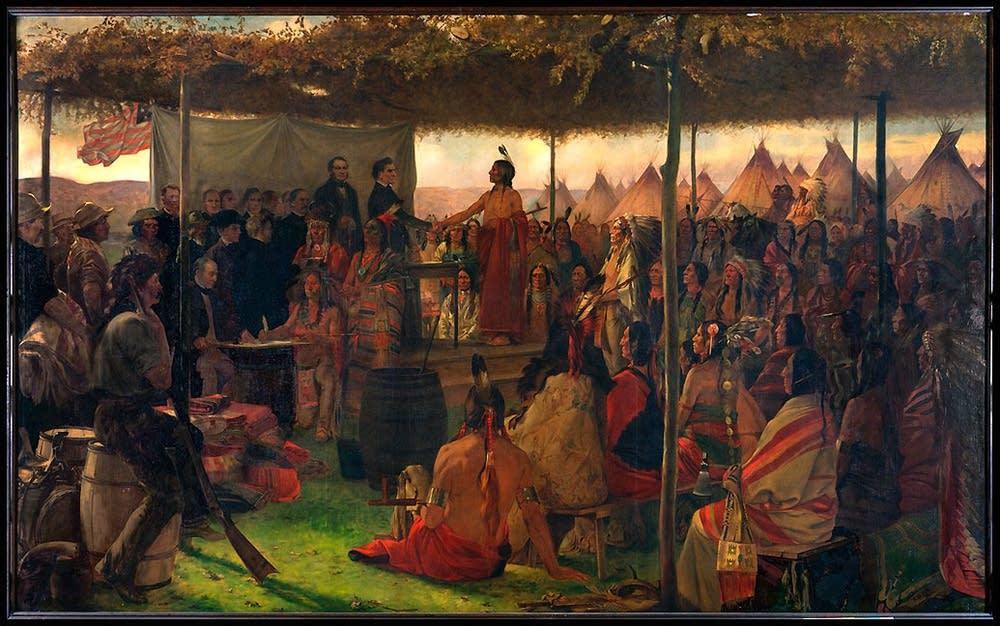 Painting of 1851 treaty signing