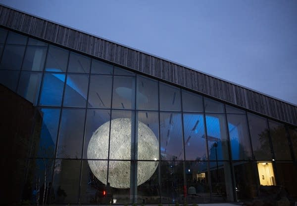 "The ""Museum of the Moon"" installation will be on display until June 9."