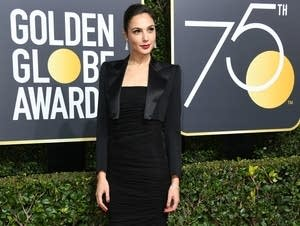 Gal Gadot arrives for the 75th Golden Globe awards.