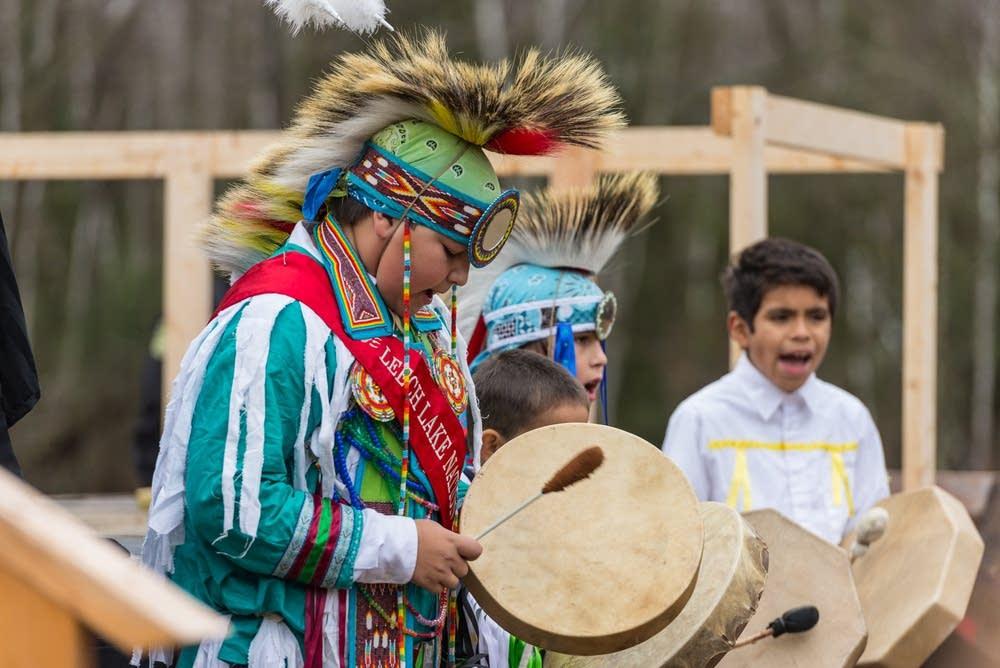 Children from the Leech Lake Band of Ojibwa