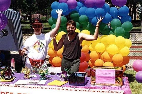 A booth at the GLBT Pride Festival at Loring Park, 1994