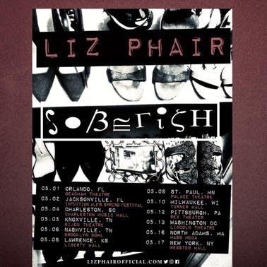 Liz Phair 'Soberish' tour flyer.