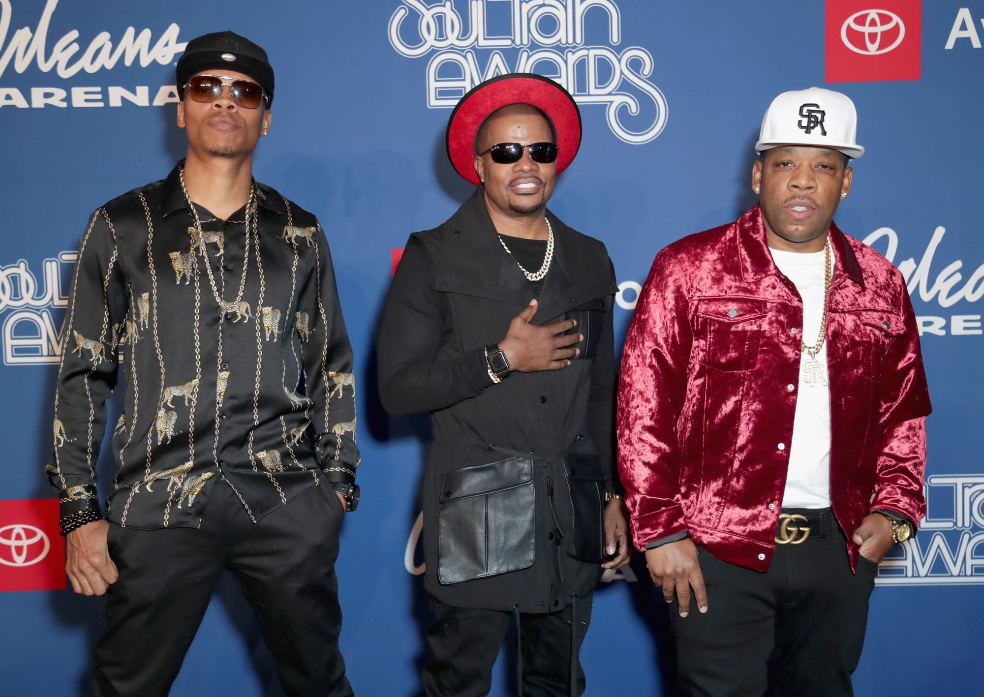 Ronnie DeVoe, Ricky Bell, and Michael Bivins of Bell Biv DeVoe