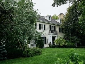 The house owned by Garrison Keillor sits for sale.