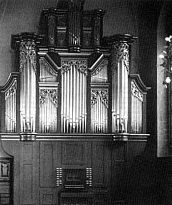 1724 Cahman organ at the Kristine Church, Falun, Sweden