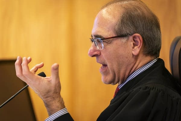 A judge presides over a hearing in the PolyMet permit case