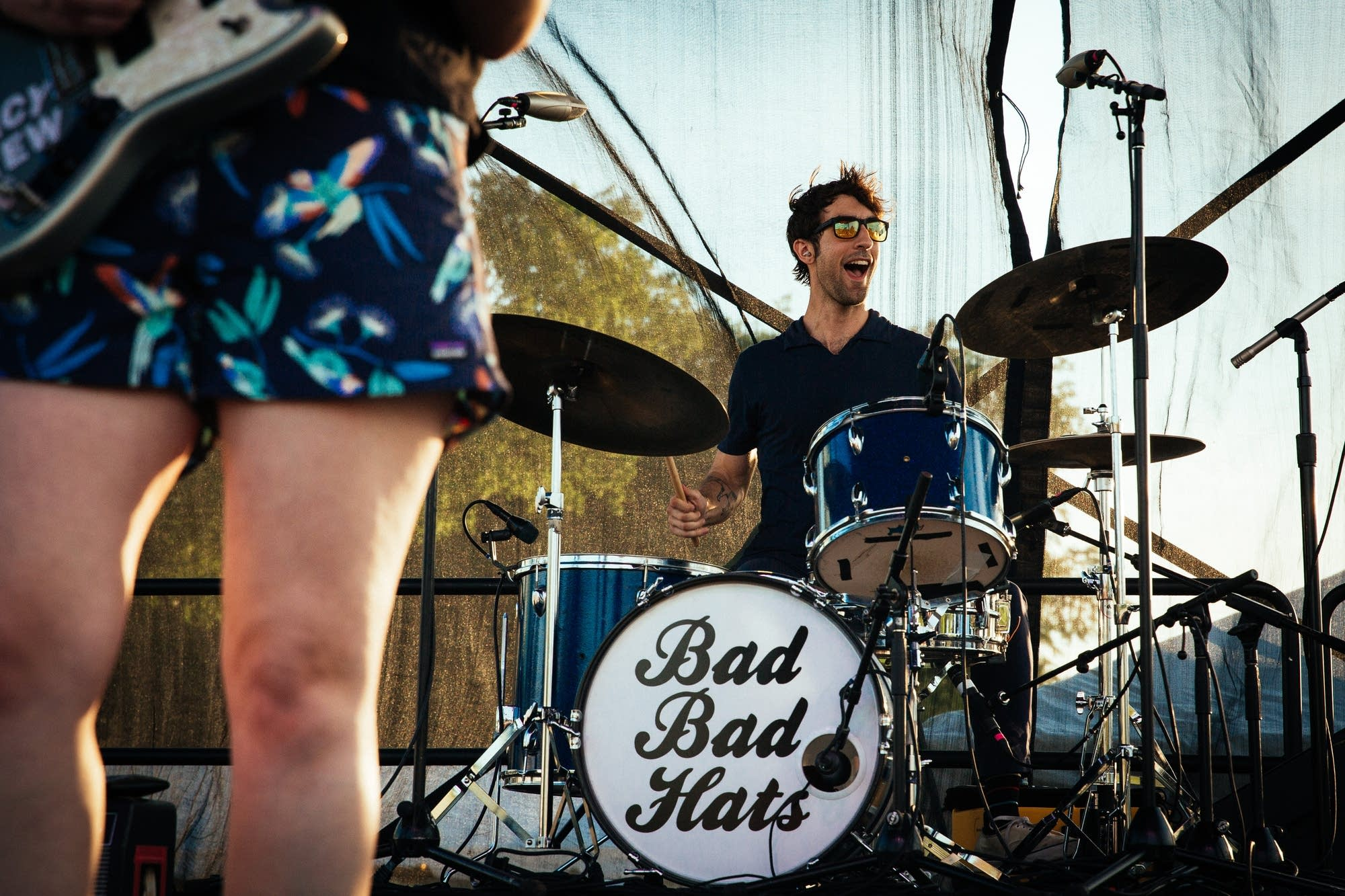 Bad Bad Hats perform at Rock the Garden 2019