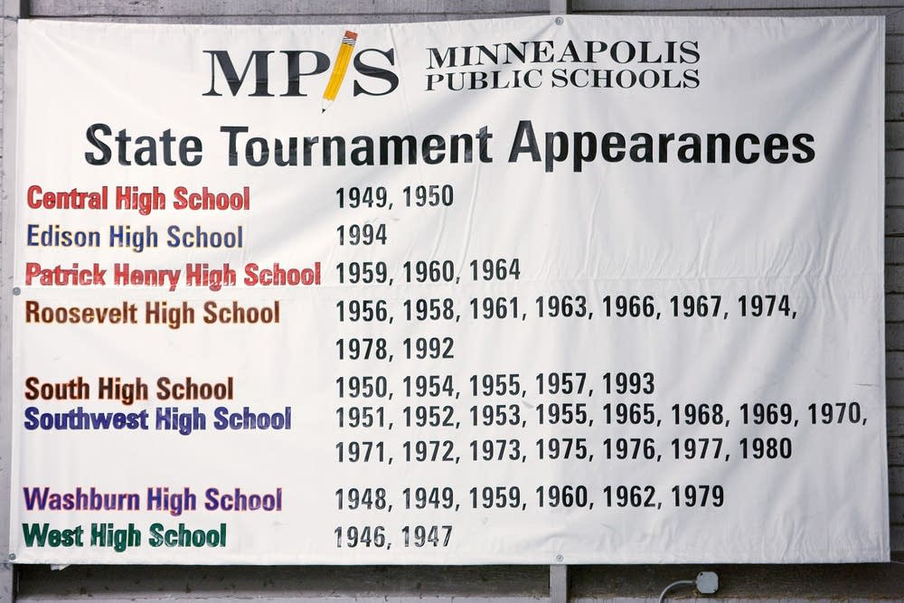 State tourney banner