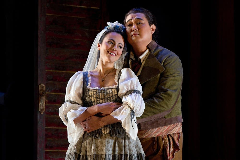 Isabel Leonard as Zerlina and Shenyang as Masetto