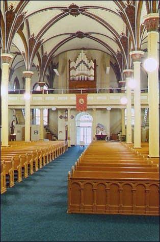 1898 Giesecke organ at Saint Boniface Catholic Church in Fulda, IN