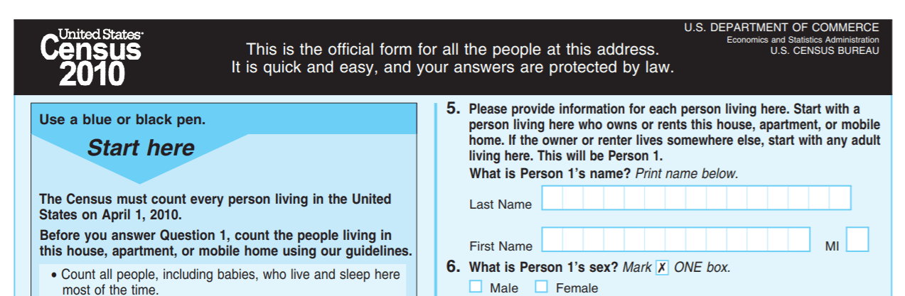 census 2010 form
