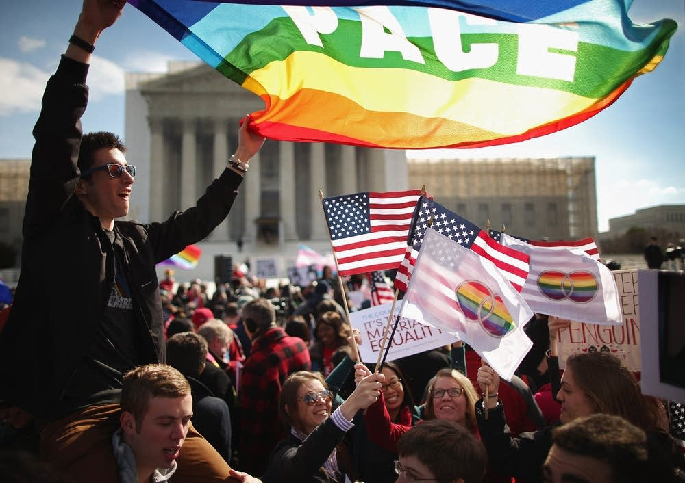 Same-sex marriage supporters in Washington, DC