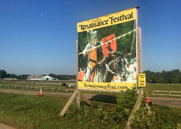 A sign for the Renaissance Festival.