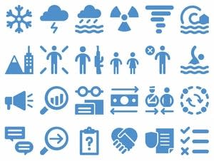 UNOCHA's new set of icons