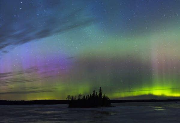 Aurora borealis near Duluth