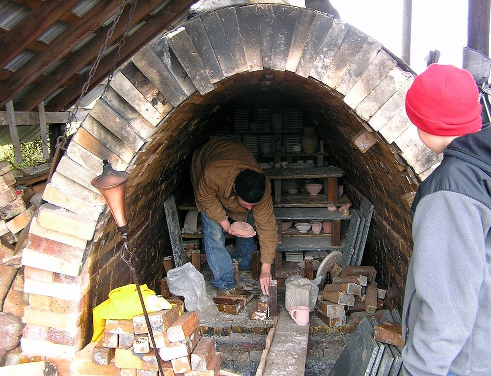 Filling the kiln