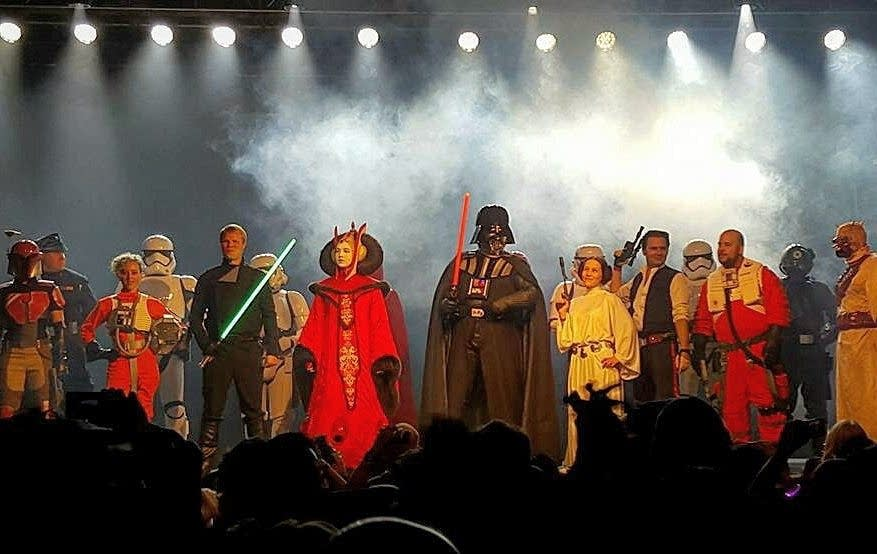 Star Wars characters onstage at First Avenue