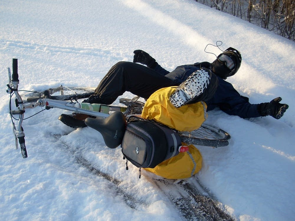 Bike commuting has its winter hazards