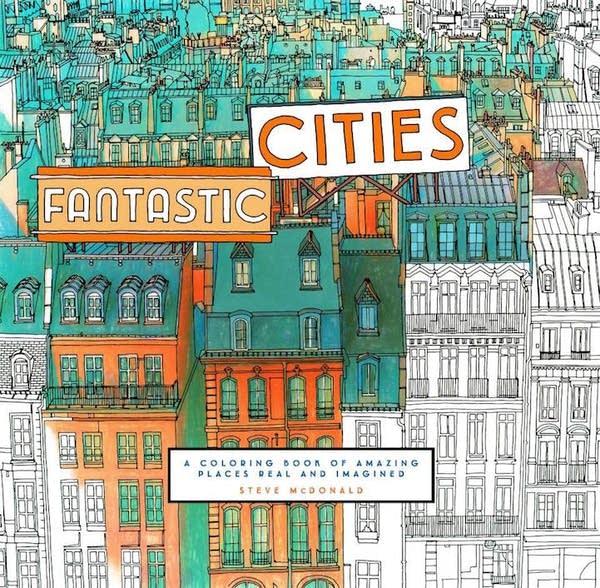 'Fantastic Cities' coloring book