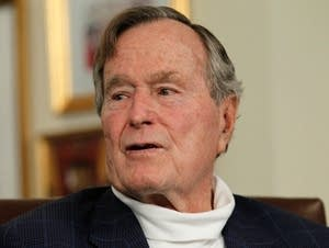 Former President George H.W. Bush at his office