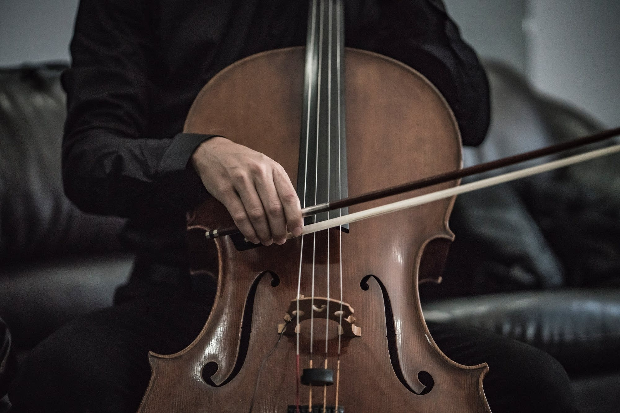 The cello is part of the string instrument family.