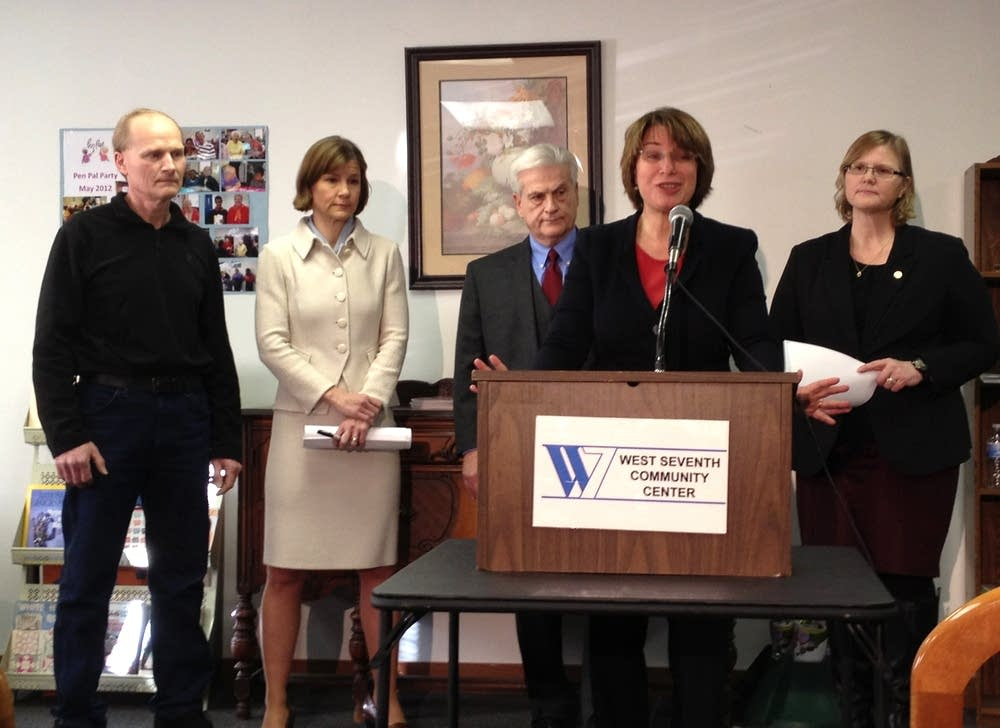Klobuchar vulnerable adults press conference