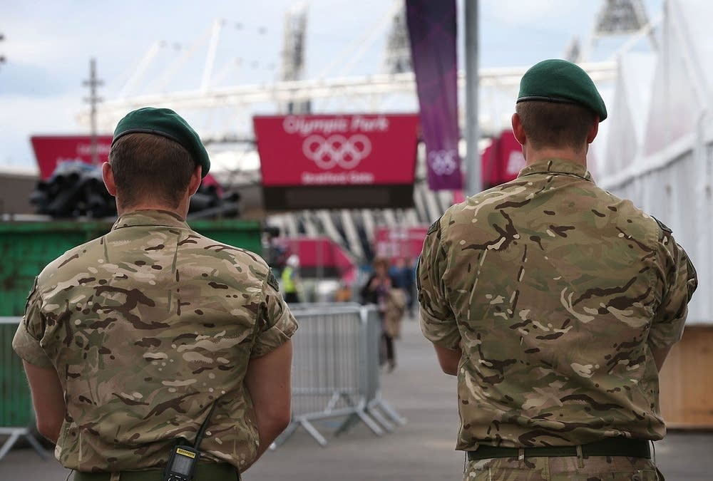 Soldiers on Olympic security duty