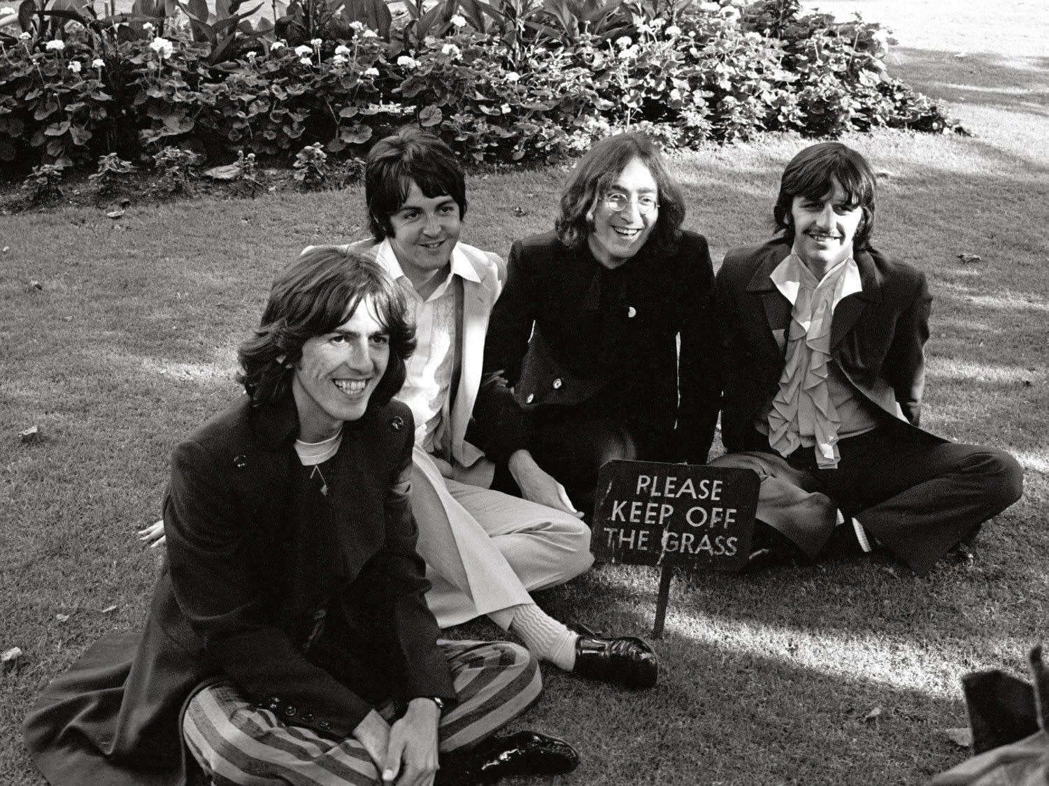 The Beatles in London on July 28, 1968.