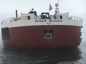 Roger Blough aground in Lake Superior